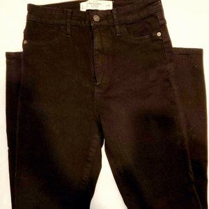 Abercrombie and Fitch Black High-Waisted Ski Jeans